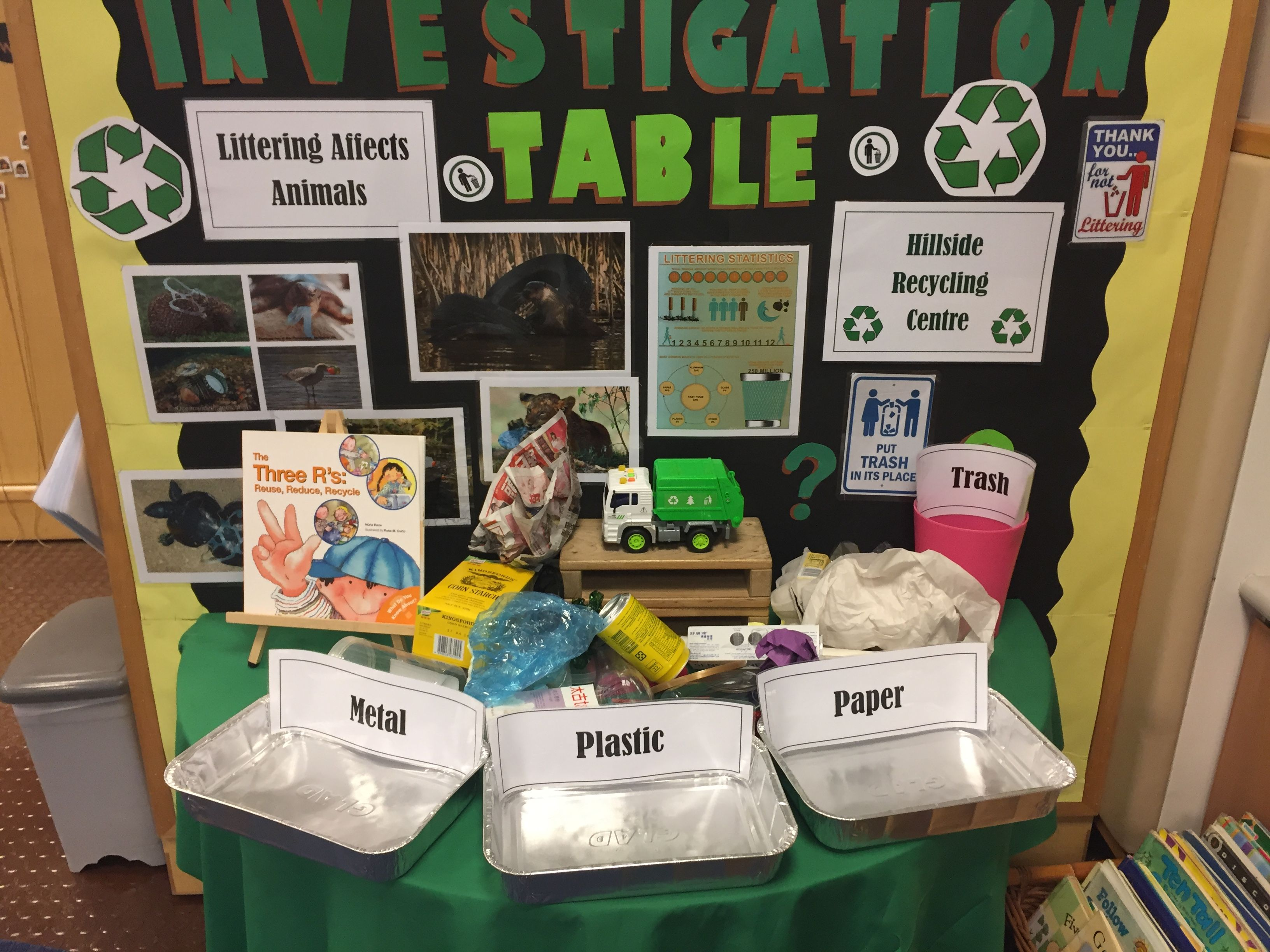 Recycling Sorting Table Preschool
