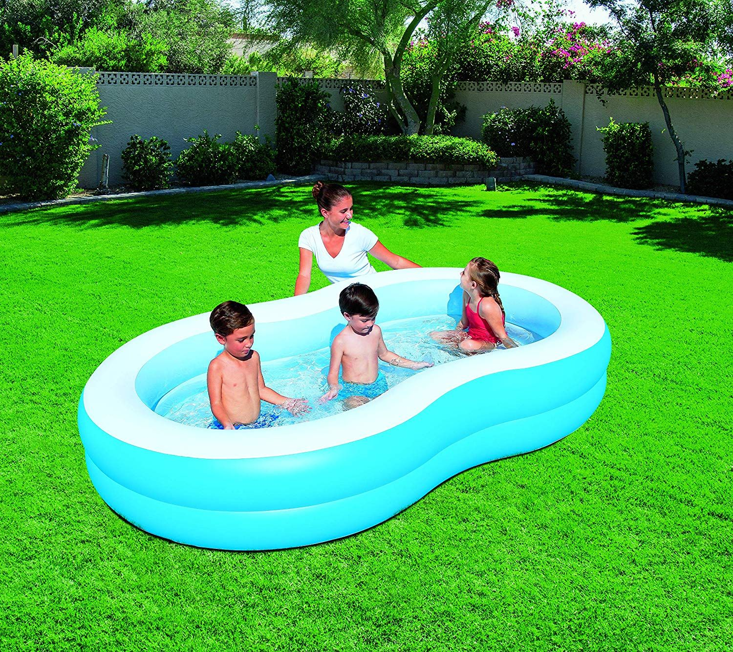 Bestway Inflatable The Big Lagoon Family Pool Inflatable The Big Lagoon Family Pool By Bestway Family Pool Pool Inflatable Pool