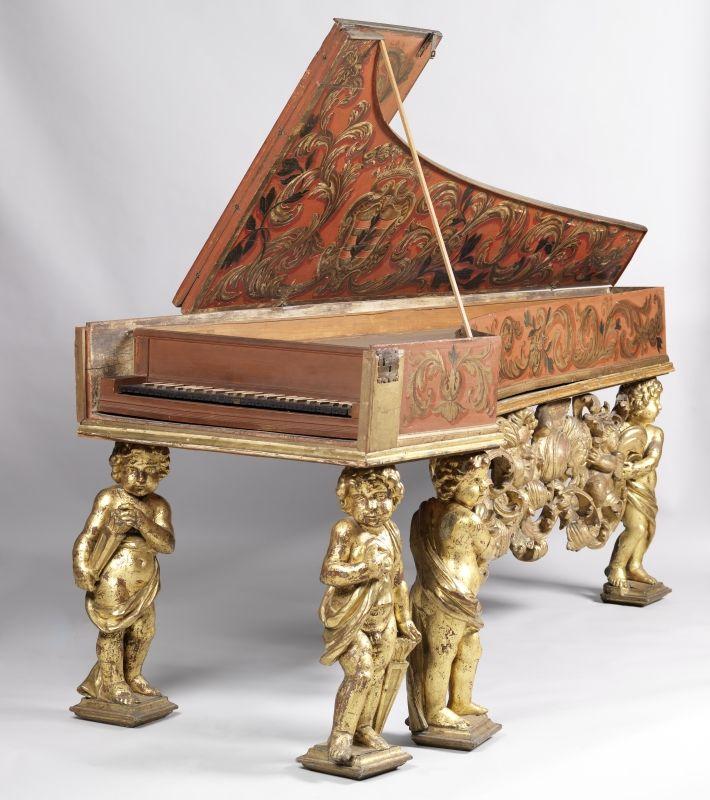 Harpsichord One Manual Manufacturer Anonymous Dating 2 Half Of The 17th Century Brand Inscripti Alte Klaviere Objekt Musikinstrumente