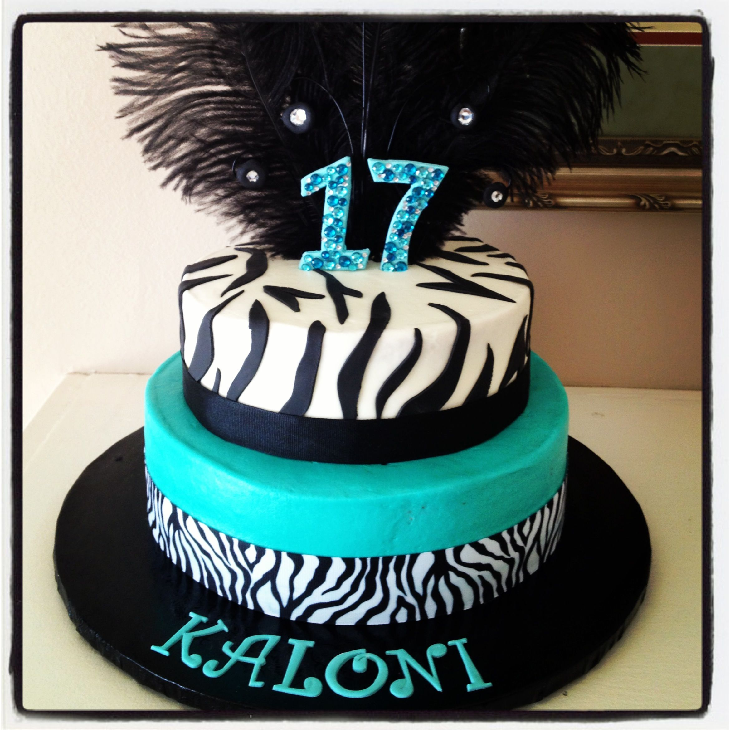 Zebra Birthday Cake For 17 Year Old