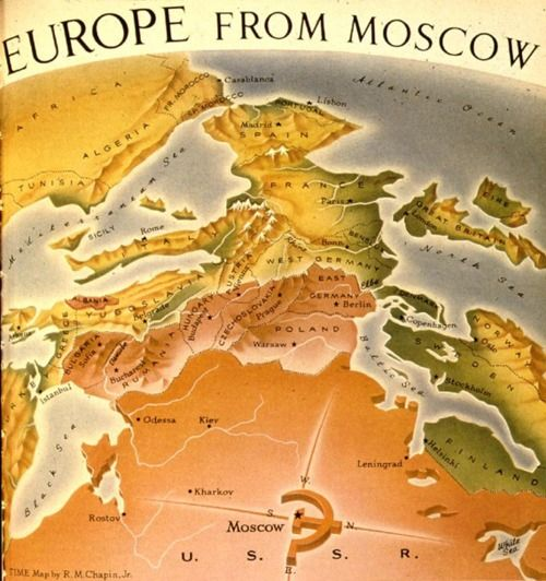 Europe from moscow map maps and cartography pinterest europe from moscow map sciox Gallery