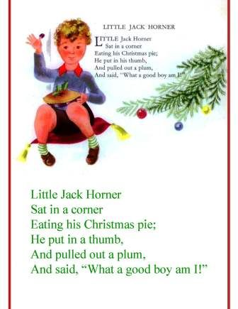 Little Jack Horner A Singable Nursery