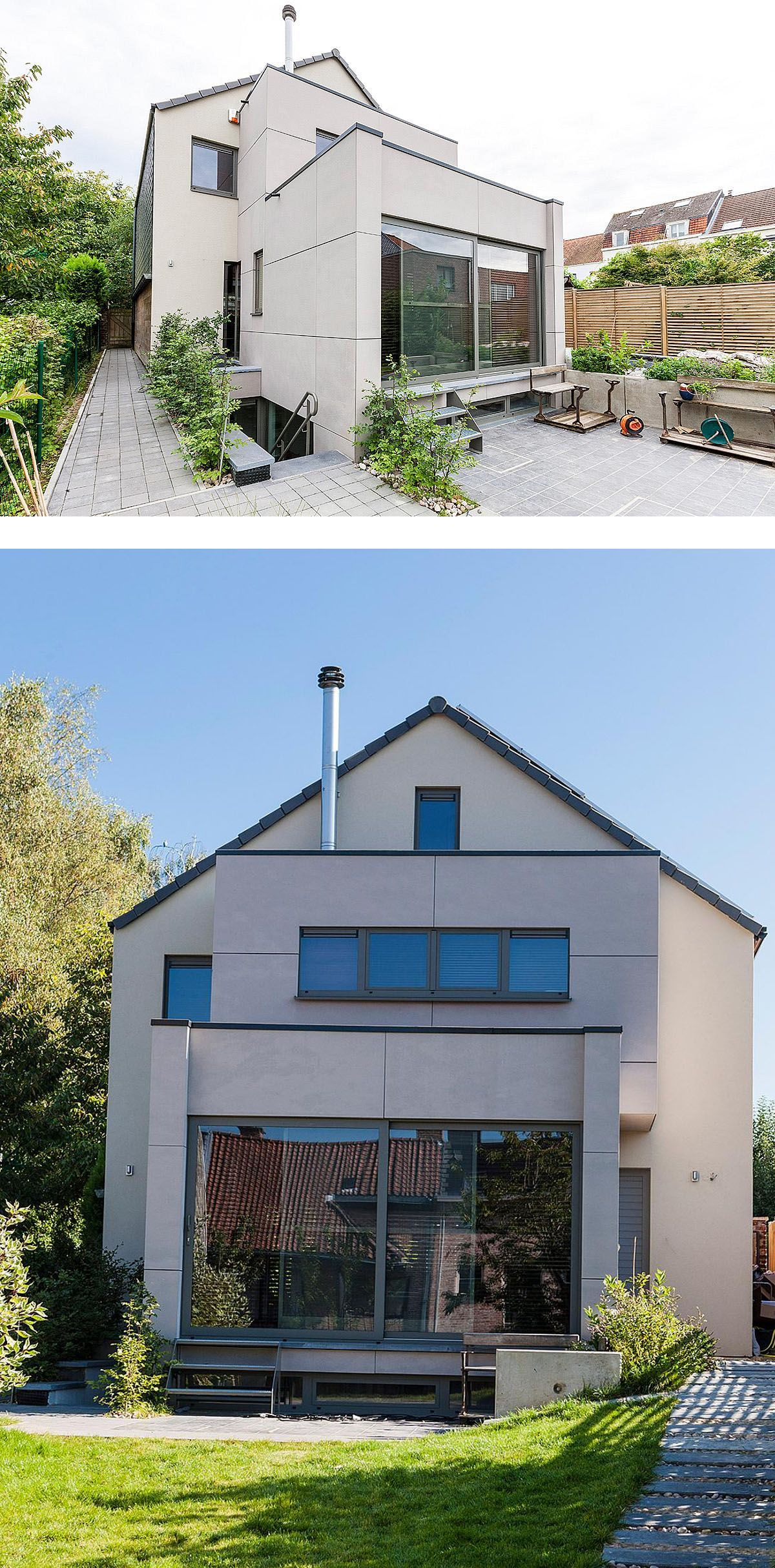 R novation tervuren extension ossature bois en fa ade for Transformation facade maison