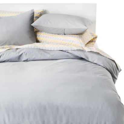 Target Room Essentials Duvet Cover Set I Like The Muted Blue Grey Yellow Dotted Sheets Could Pair This With Creams And Stronger
