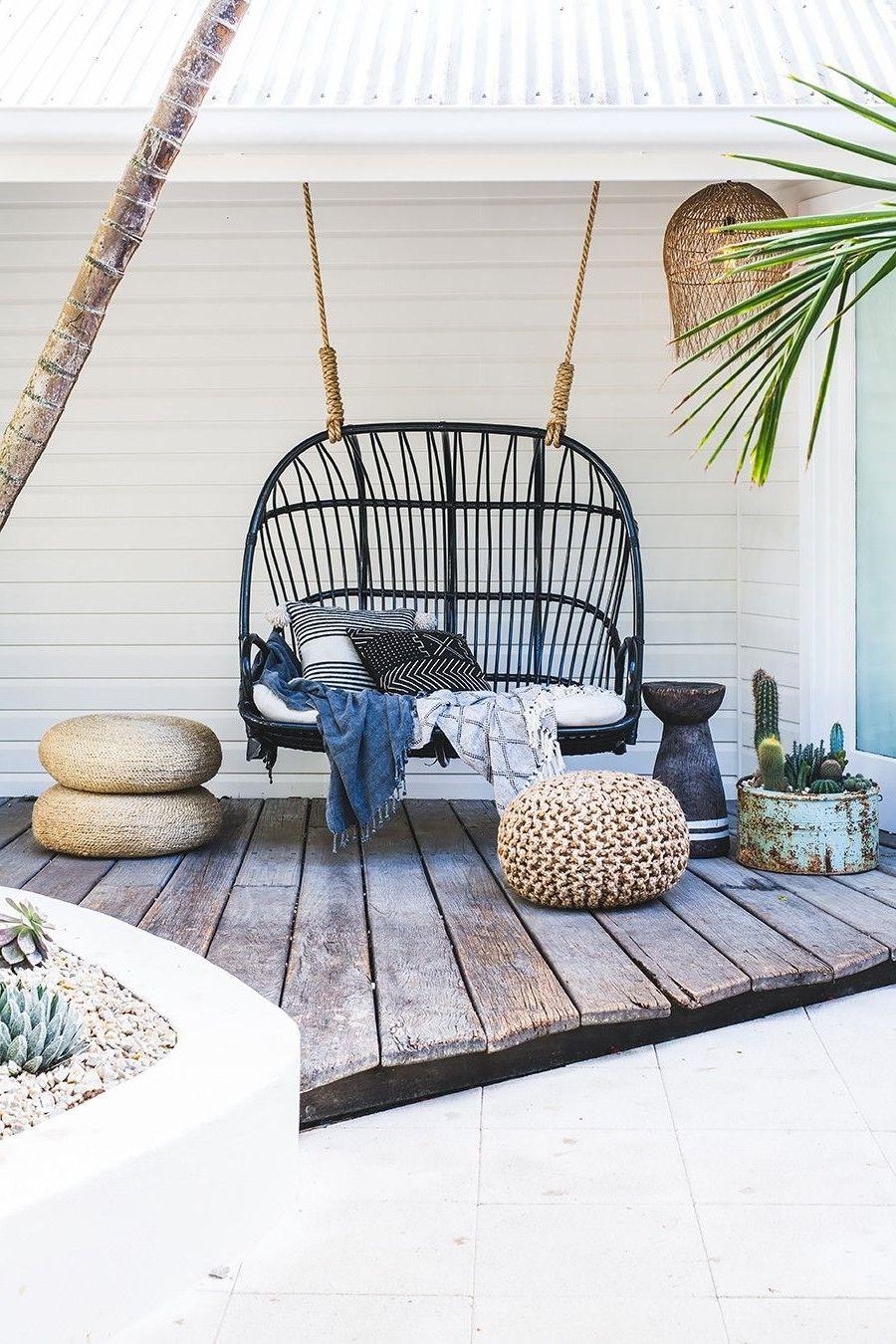 Afbeeldingsresultaat voor hang schommelstoel buiten tuin in
