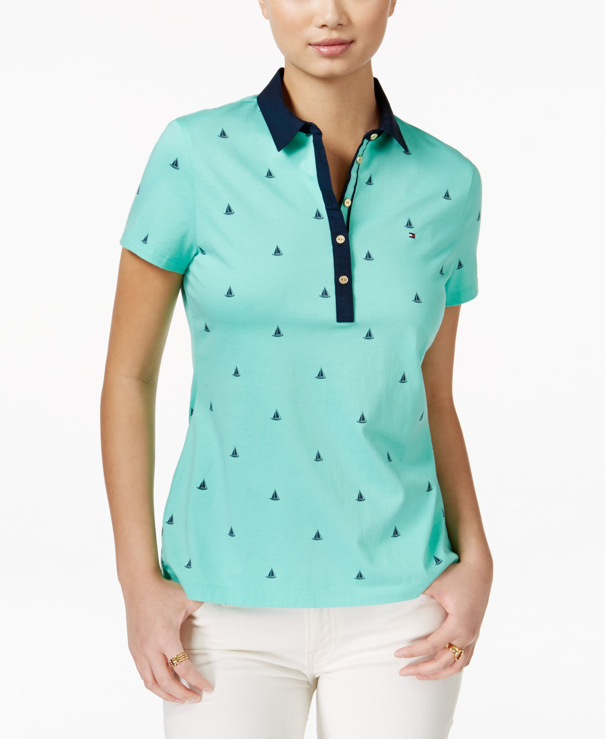 7f214350 Tommy Hilfiger Lobster-Print Polo Top | Tommy Hilfiger in 2018 ...
