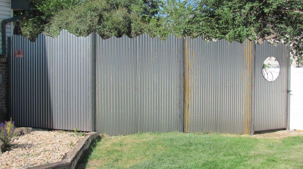Images of corrugate metal fences watson steel corrugate for Garden fencing ideas metal