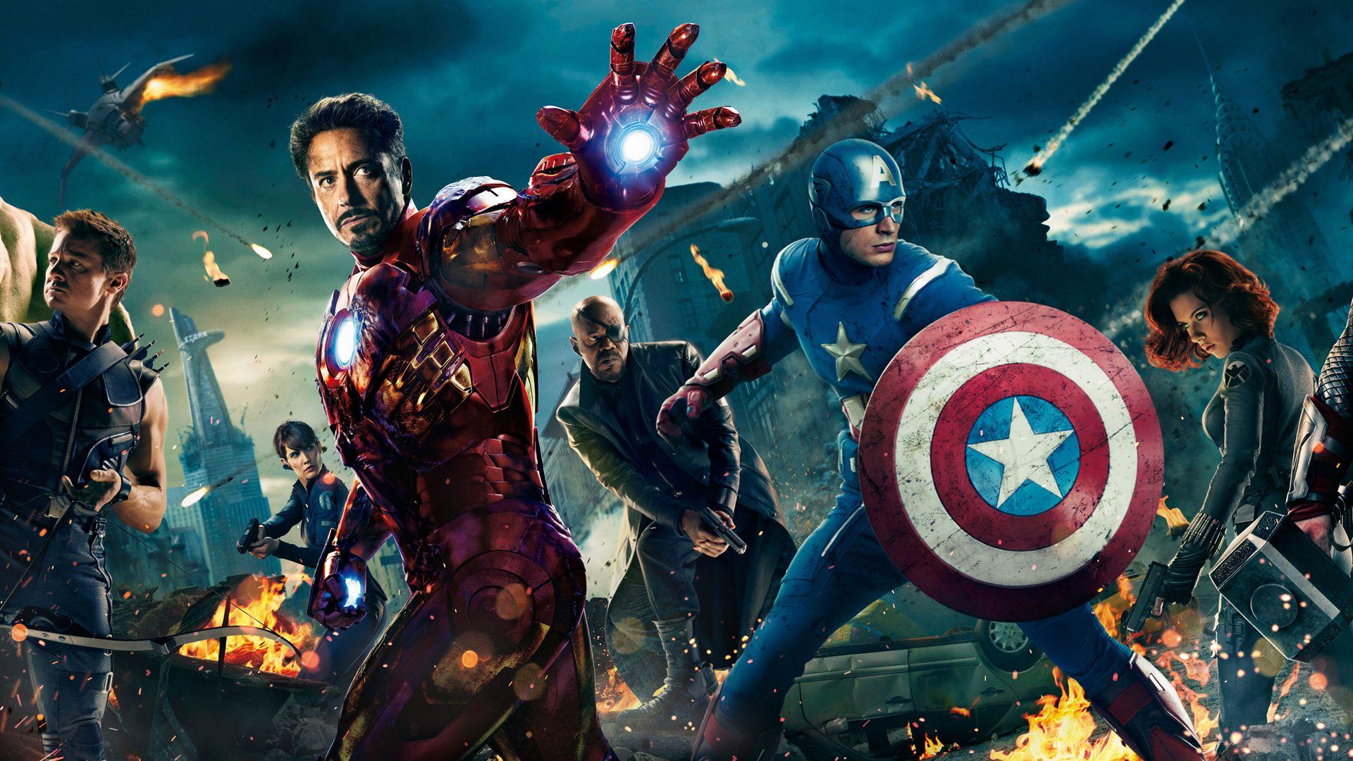 the avengers team hd wallpaper | superhero/star trek | pinterest