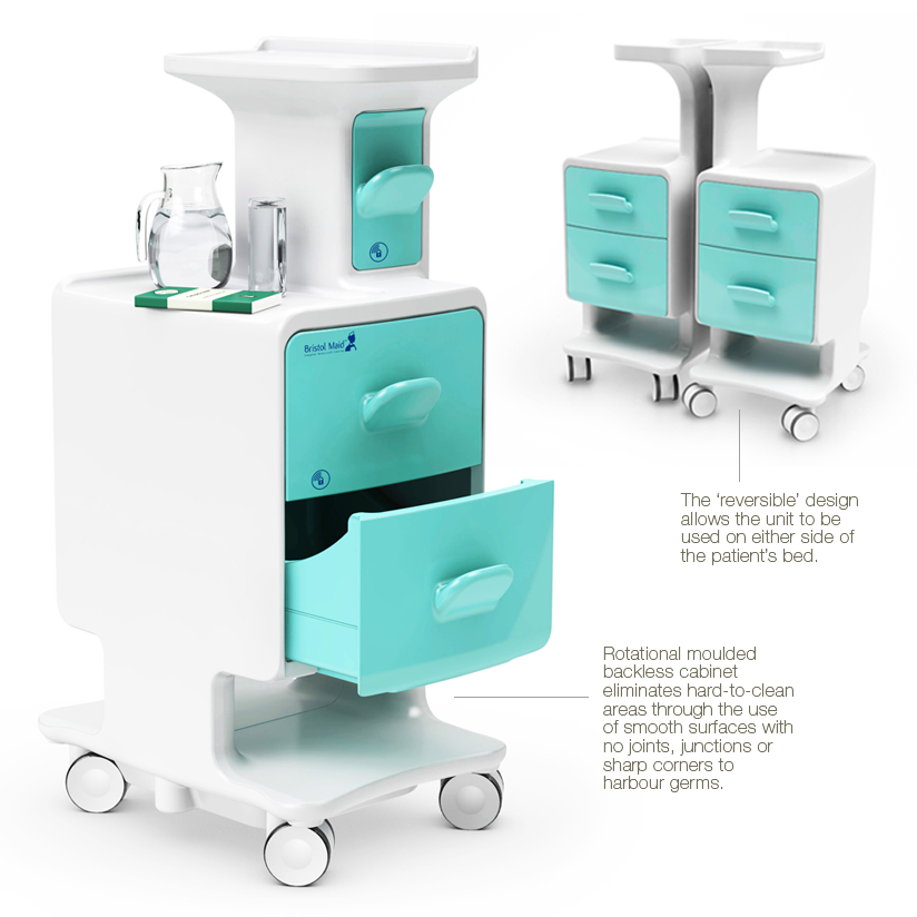 Firm Project: A Hospital Cabinet Engineered to Avoid Germs by Kinneir Dufort for Bristol Maid - Core77