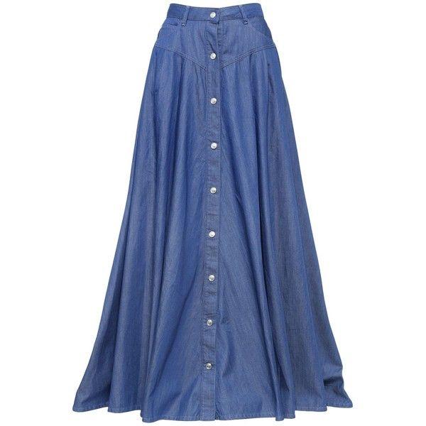 Denim maxi dress malaysia boutique