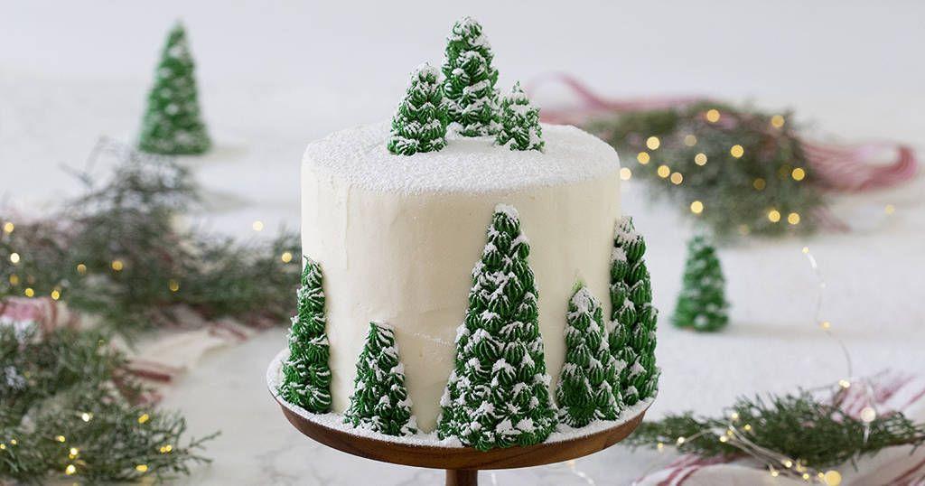 A delicious vanilla cake with creamy, dreamy vanilla