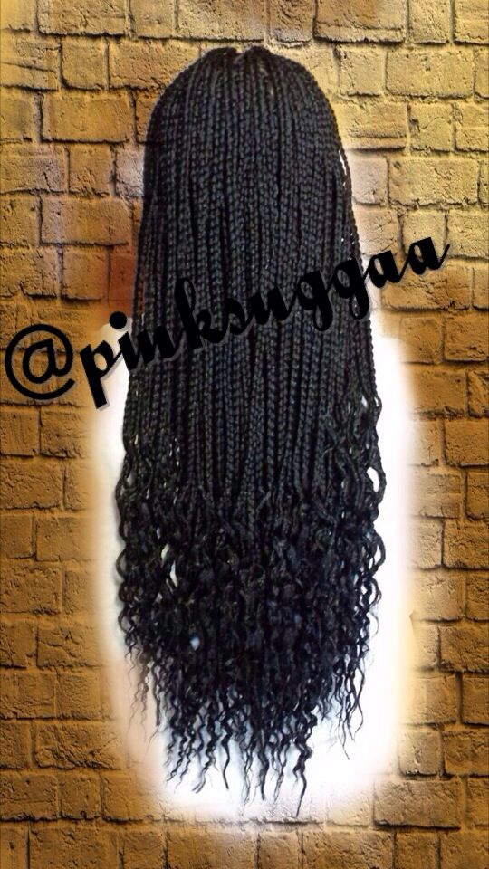Box Braids Wavy Ends