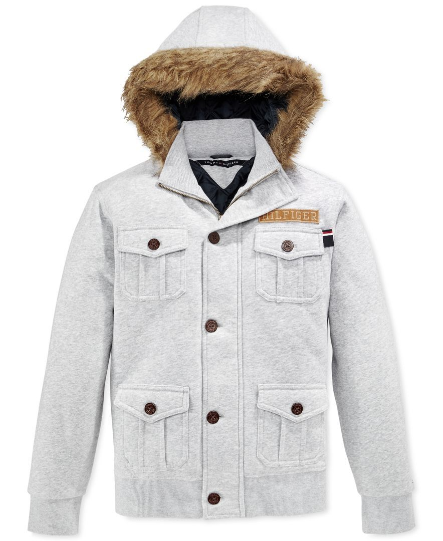 Tommy hilfiger boysu fleece jacket with faux fur trim products