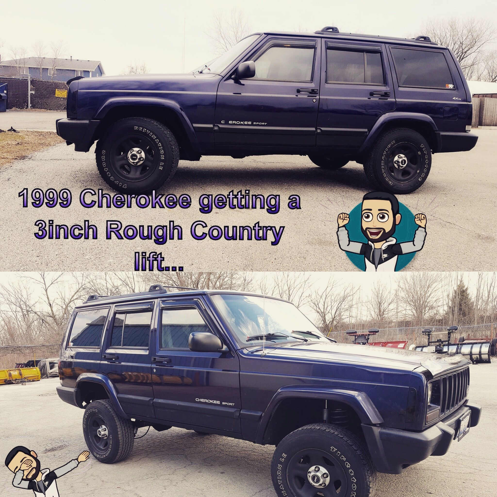 Lifted Jeep Cherokee Before After Custom Jeep Lifted Jeep Custom Jeep Wrangler
