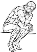 The Thinker By Auguste Rodin Coloring Page Coloring Pages Free Coloring Pages The Thinker By Auguste Rodin