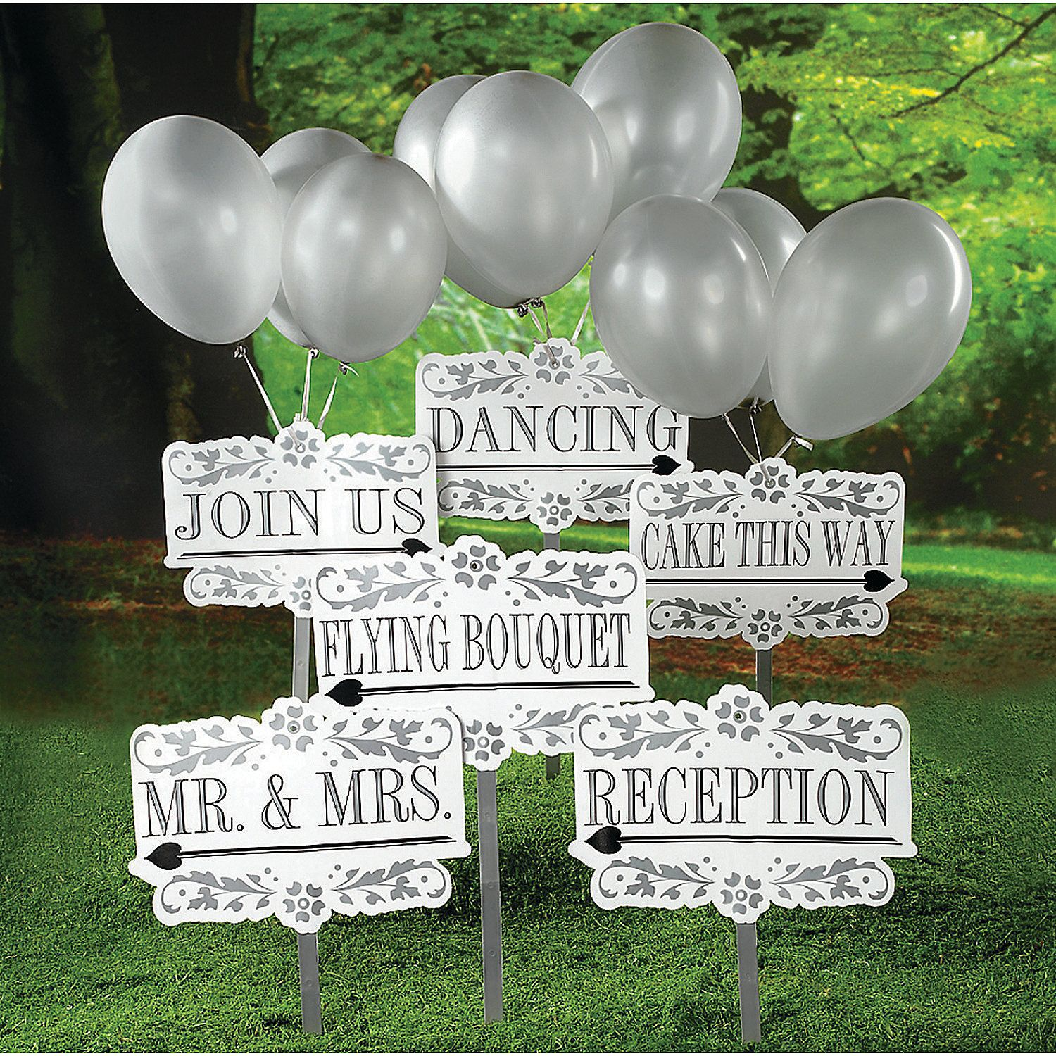 Reception Yard Signs Kit Discontinued Wedding Signs Reception Party Wedding Supplies
