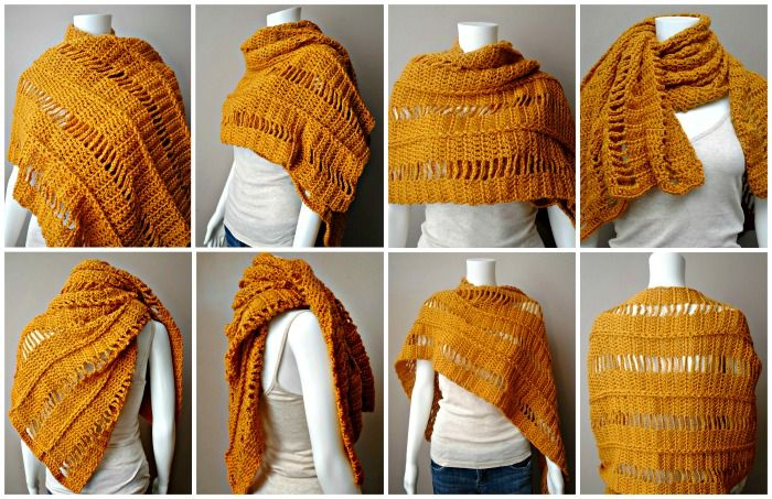 There are so many ways to wear this wrap.  Super easy to make, and so useful.  Includes picture tutorial.