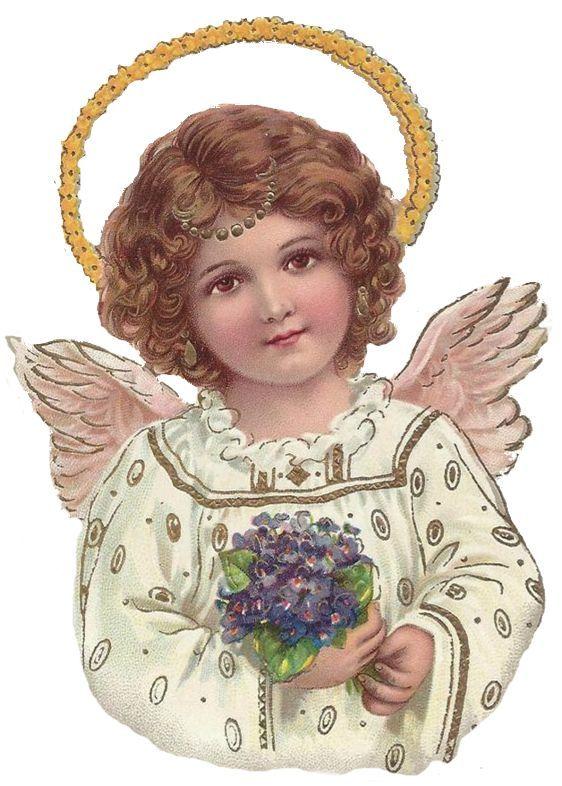 Винтажные открытки ангелы, руками