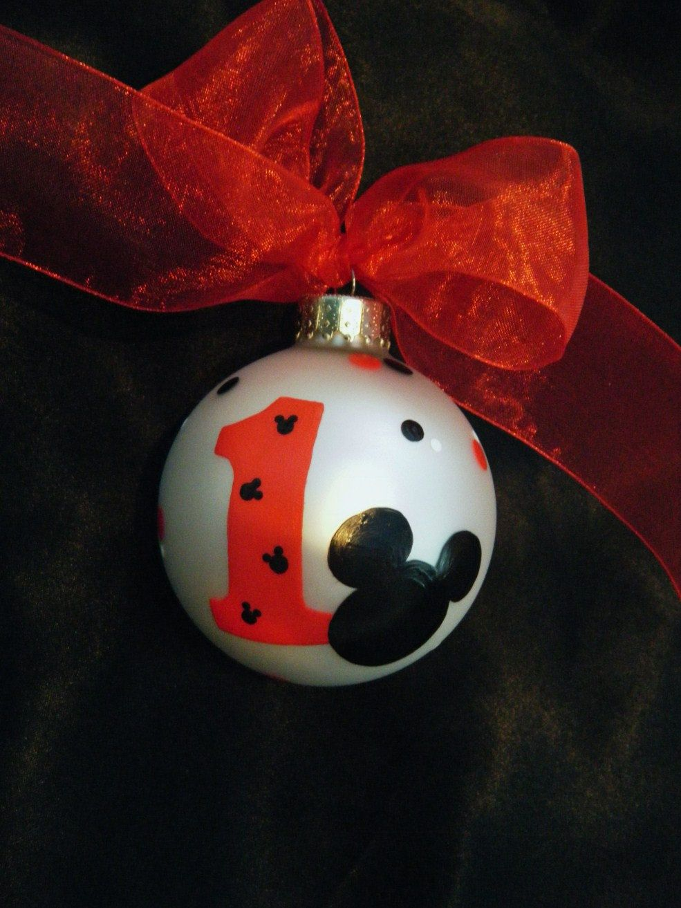Mickey Mouse Personalized Ornament - Birthday Party Favor ...