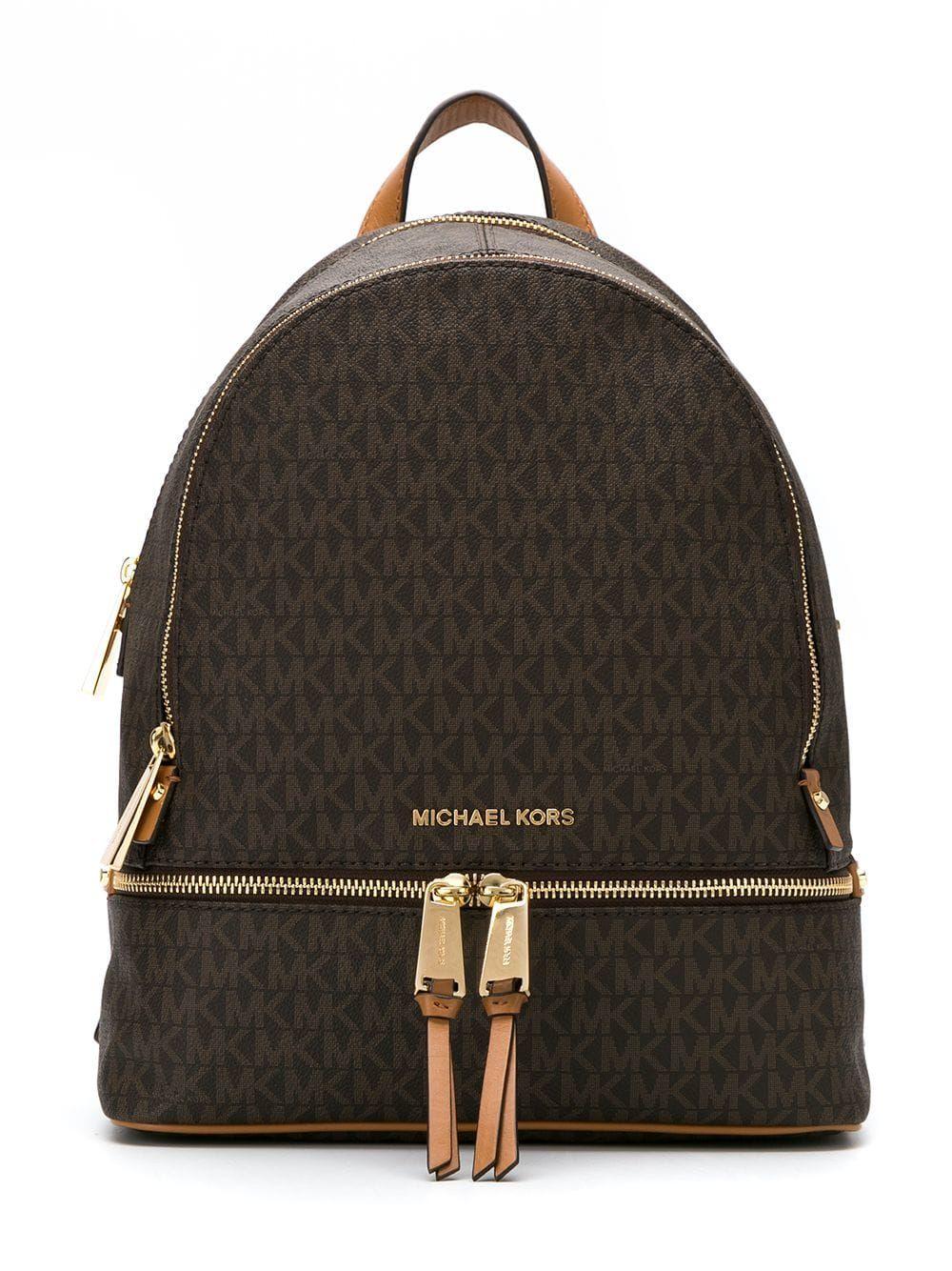 Michael Michael Kors Medium Rhea logo print Backpack en 2020