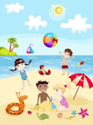 Resultado de imagen de dibujo verano con niños