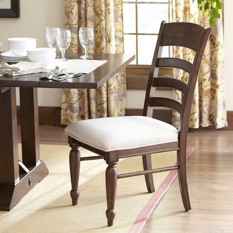 This Timeless Accent Chair Features Horizontal Ladder Back
