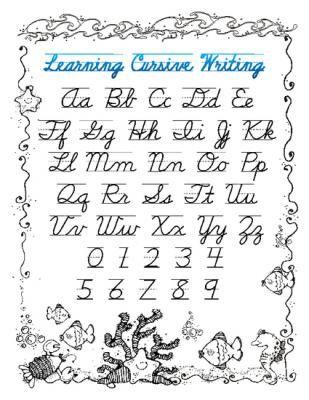 Handwriting guide - ocean from Shellie's Class on TeachersNotebook ...