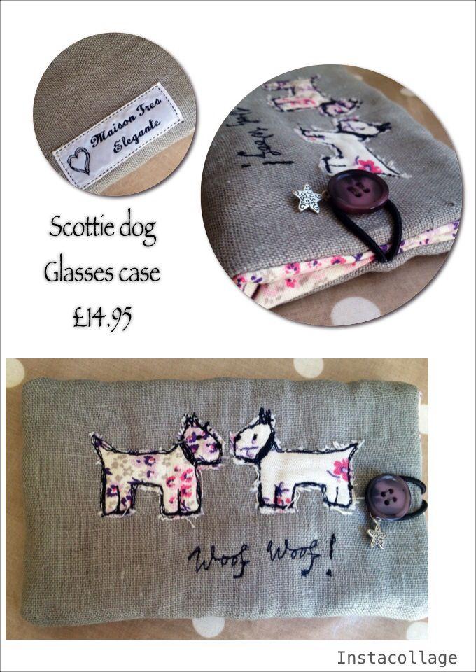 www.facebook.com/MaisonTresElegante Freehand machine embroidered glasses case £14.95