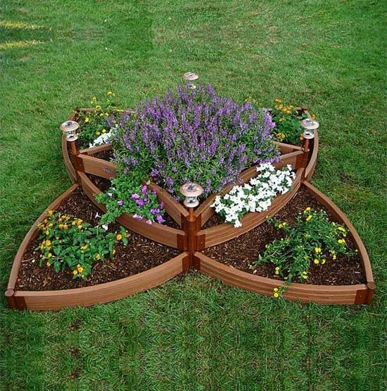 geometric shaped raised beds gardening ideas