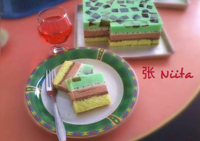 Resep Cake Lapis Puding Busa Oleh Zhang Nita Resep Resep Kue Puding