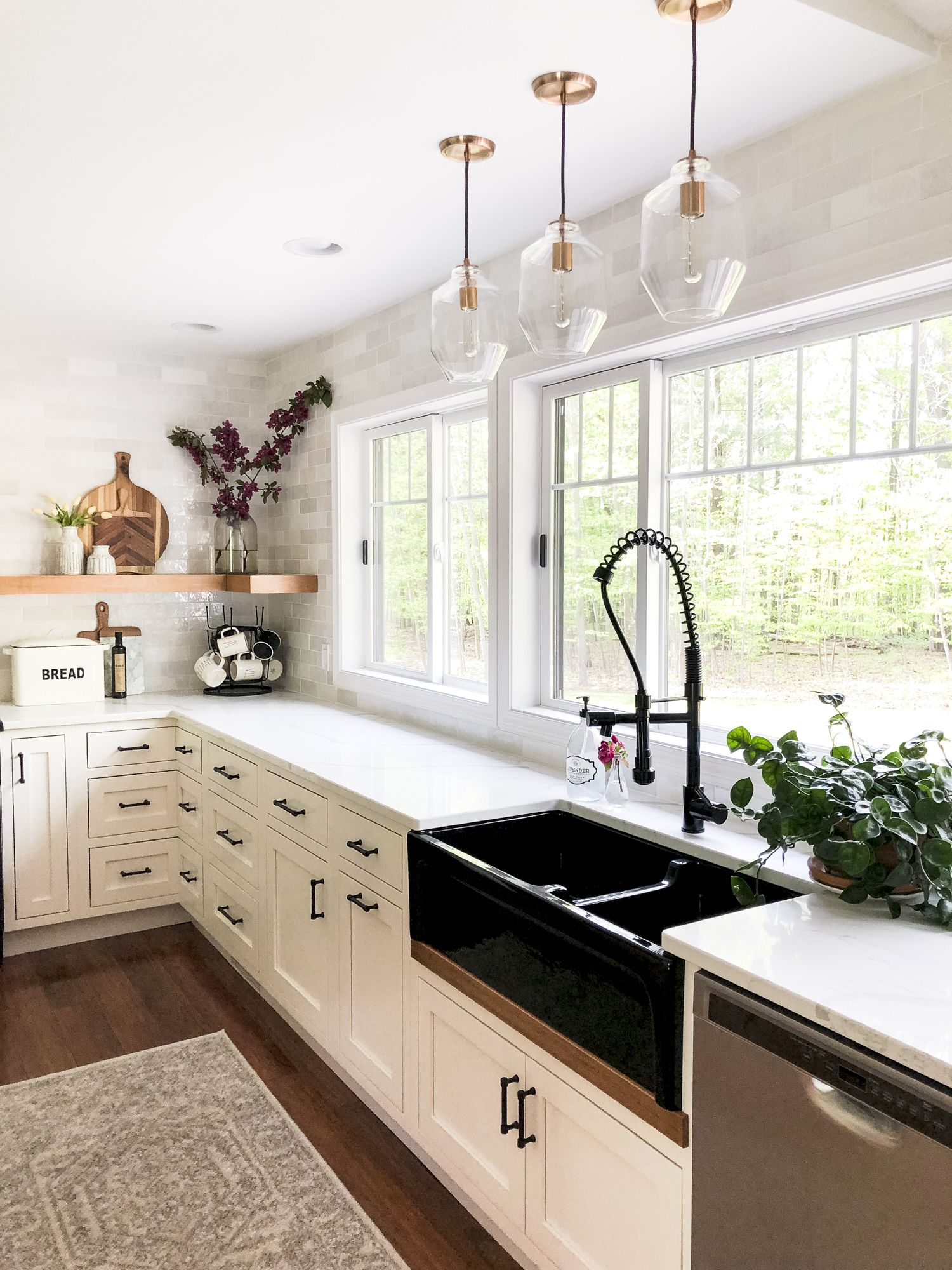Designing A Modern Farmhouse Kitchen With A Black Farmhouse Sink Kitchen Remodel Design Diy Kitchen Remodel New Kitchen Cabinets