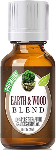 Earth and Wood Essential Oil Blend 100% Pure, Best Therapeutic Grade - 30ml - Cardamom, Cedarleaf, Cedarwood, Fir Needle, Patchouli and Sandal >>> Additional details at the pin image, click it  : Patchouli oil