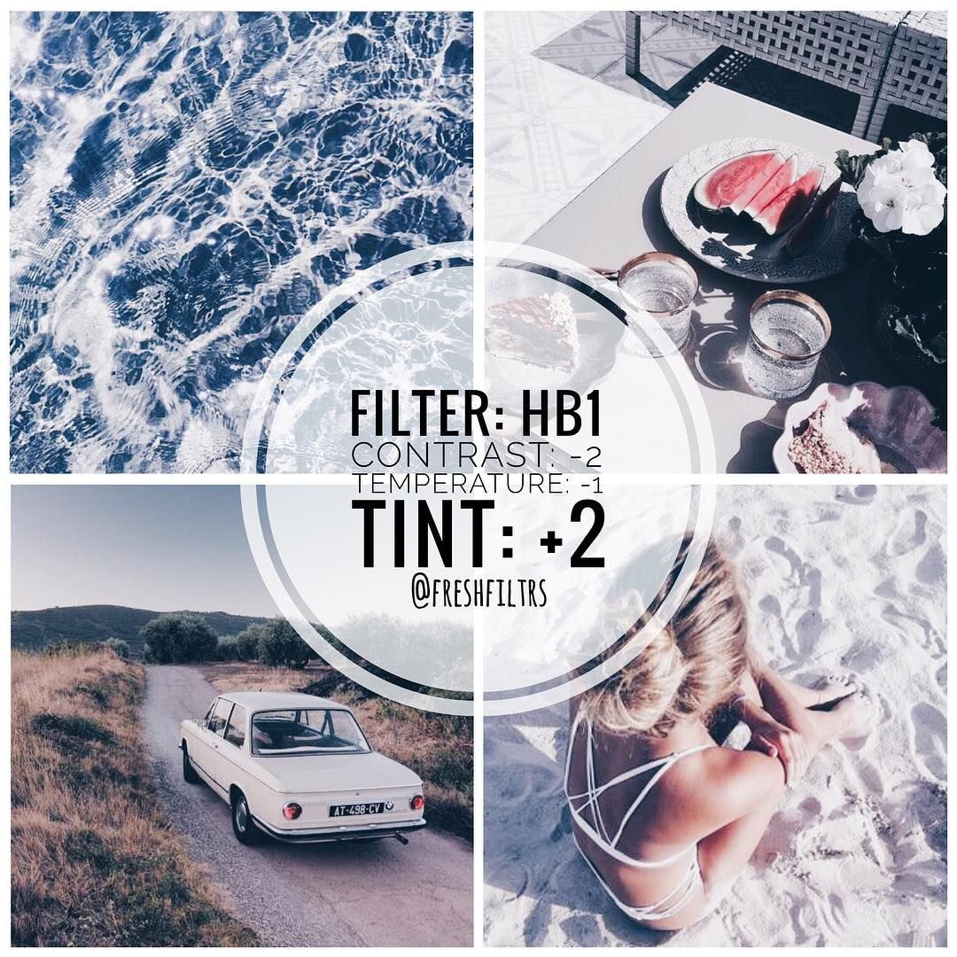 For more filters... FOLLOW ME! Pinterest: @andrebaol