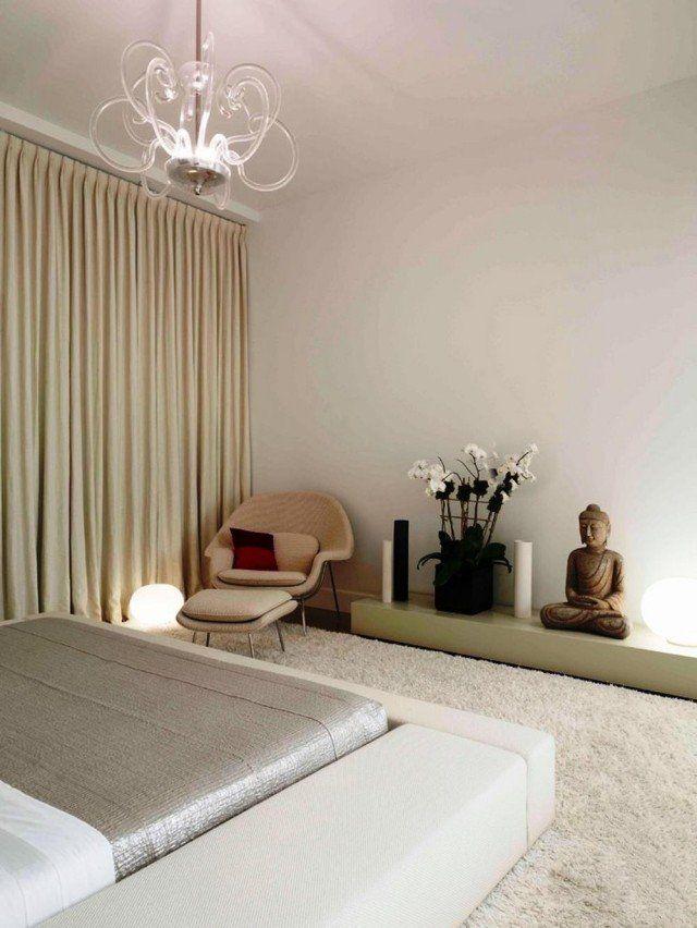 décoration-chambre-zen-Bouddha-lampes-lustre Chambre adulte