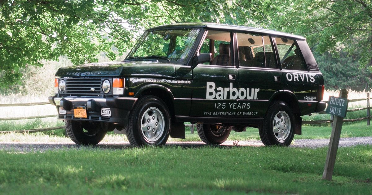 The Orvis Barbour Range Rover 125 Year Anniversary Sweepstakes Range Rover Year Anniversary Orvis