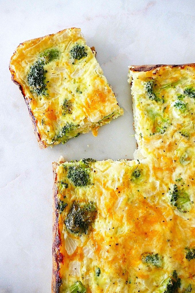 Photo of Easy Broccoli and Cheese Egg Bake