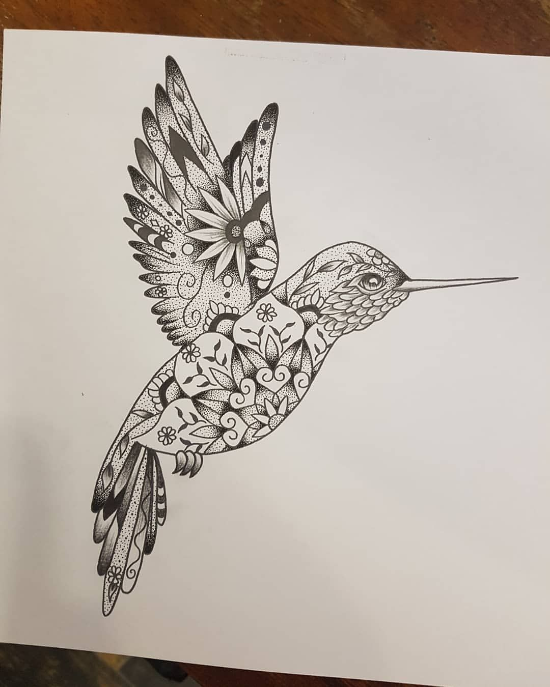 "Alayna Chloe Tattoo on Instagram: ""Mandala hummingbird ready for a friend #art #drawing #design"