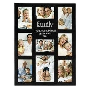 photo collage frames family 9 photo collage frame 9 opening family vertical picture