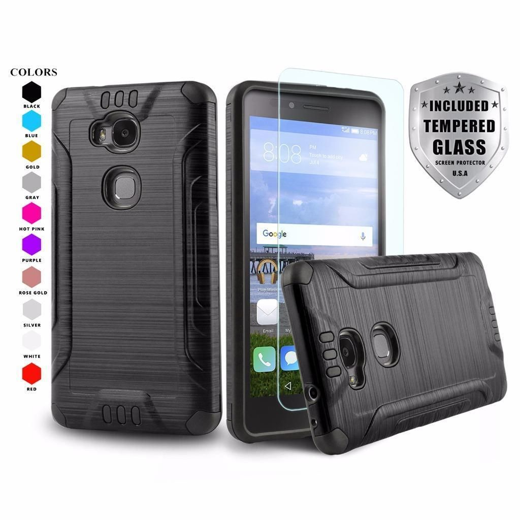 buy online ba570 83092 Brushed Armor Shockproof Cover Phone Case For [Huawei Ascend 5W] + ...