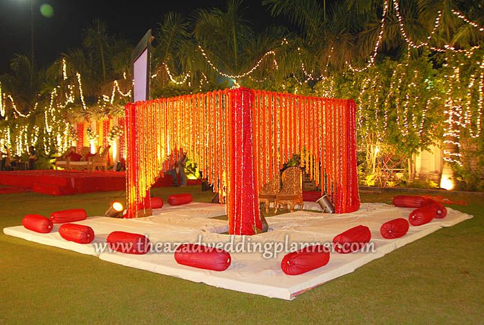 Mandap flower decoration chandigarh wedding decor ideas for Artificial flower decoration mandap