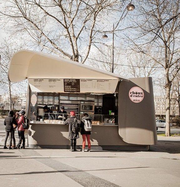 Kiosque choux d 39 enfer par ducasse michalak x patrick jouin kiosk - Patrick jouin architecte ...