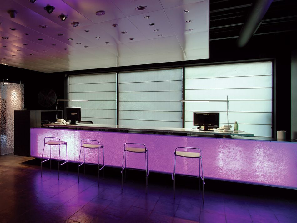 Interdesign drn architects glowing counter front with form varia connectionsevo white and linen design also rh pinterest