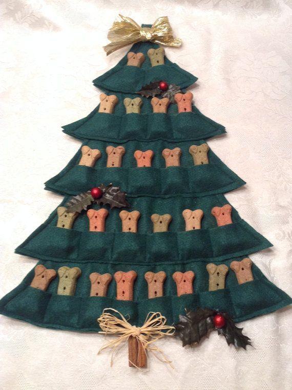 Puppy Treat Tree--Advent Calendar #calendrierdel#39;aventdiy