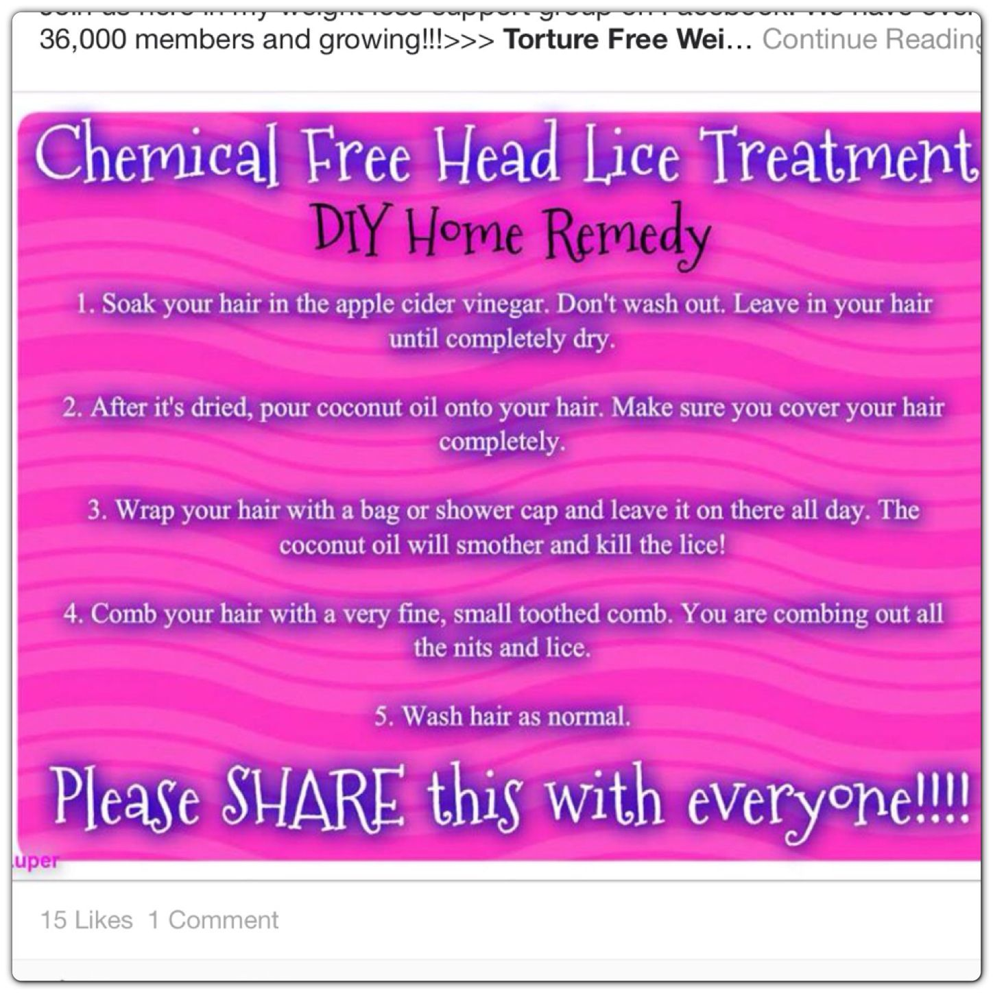 Chemicalfree lice treatment i pray we will never ever need this