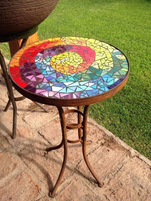 89 Creative Diy Mosaic Decoration Ideas Outdoor Table Top Furniture