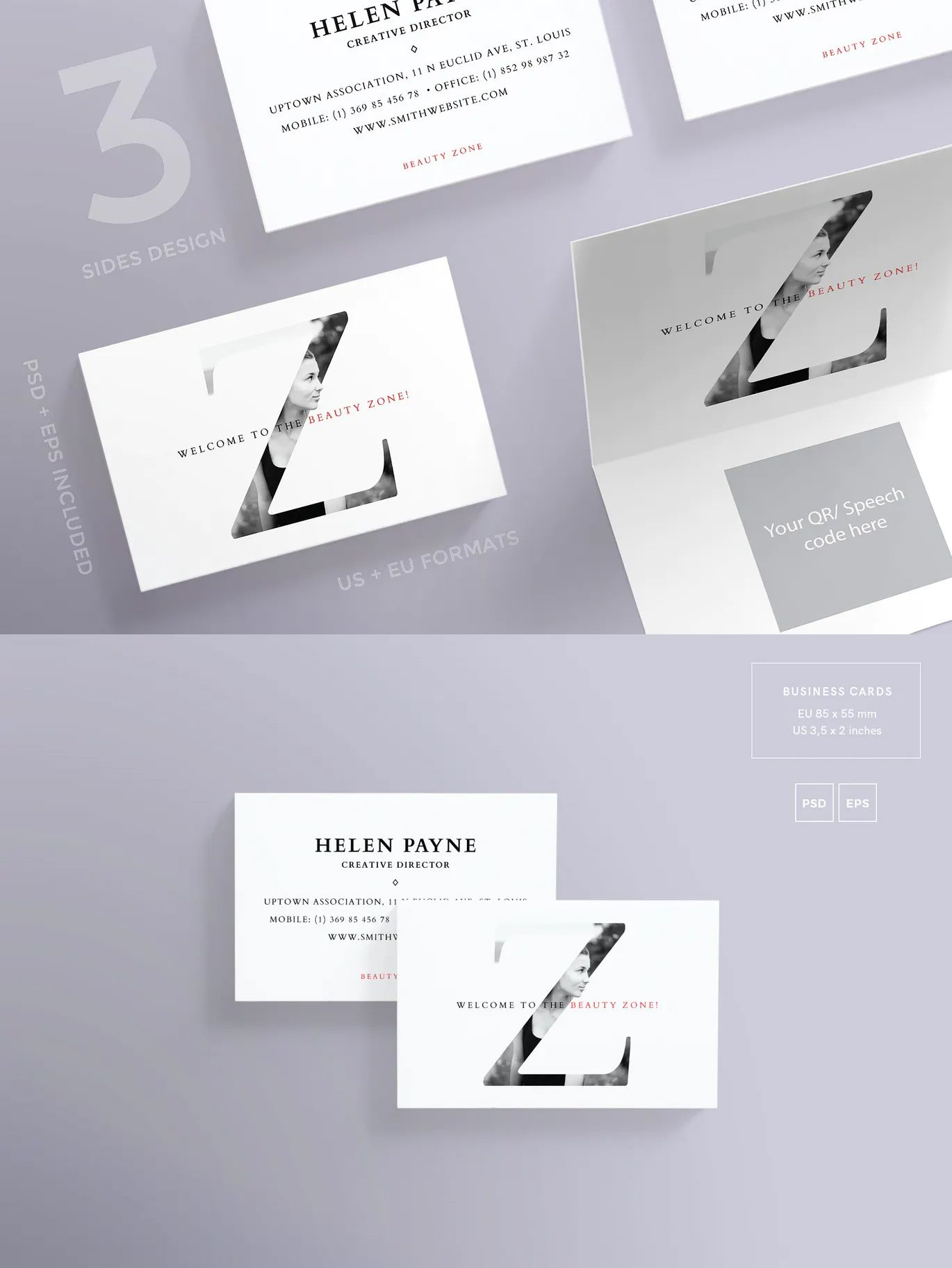 Beauty Salon Business Card Template By Ambergraphics On Envato Elements Beauty Salon Business Cards Beauty Business Cards Salons Salon Business Cards