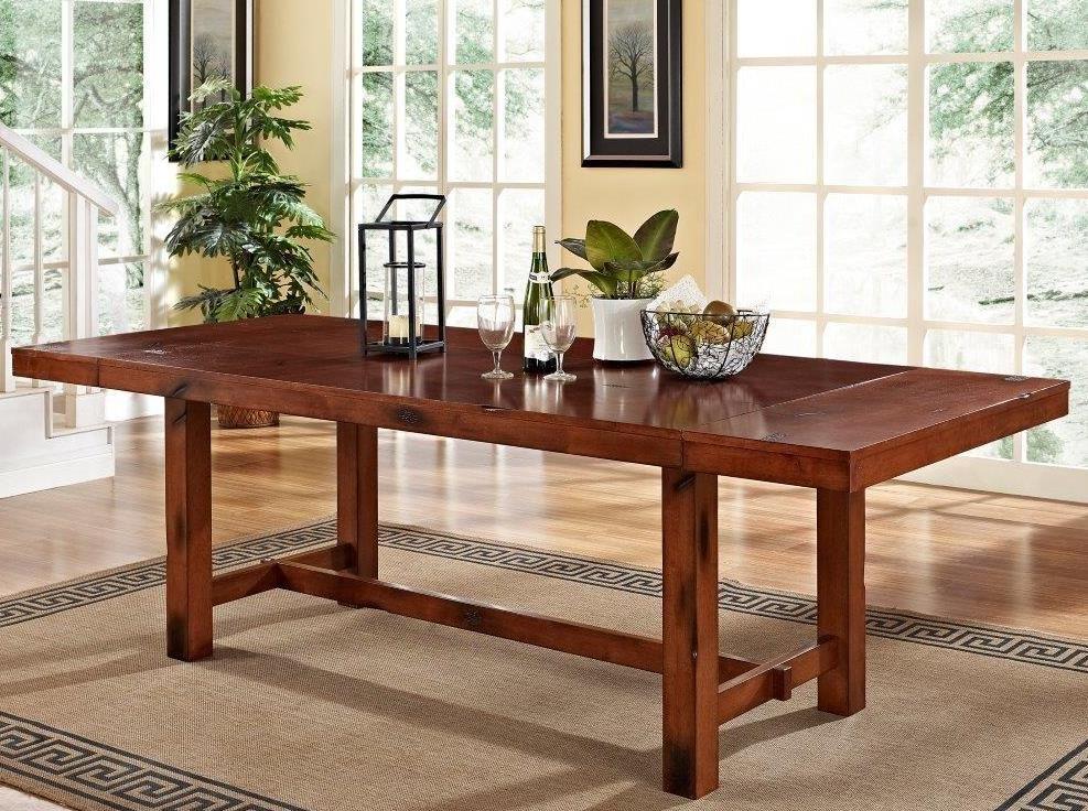 Dark Oak Wood Dining Table Walker Edison Tw60hdo Distressed