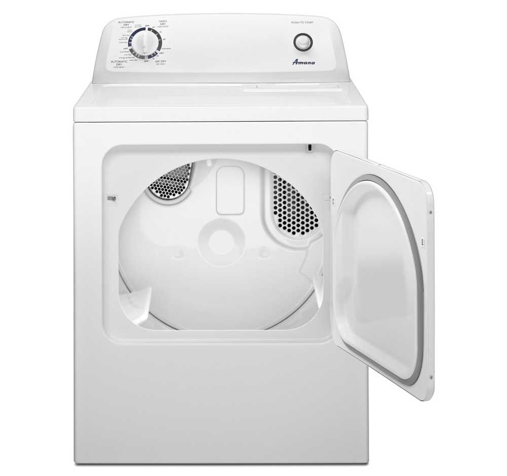 Amana 6 5 Cu Ft White Traditional Electric Dryer With Automatic