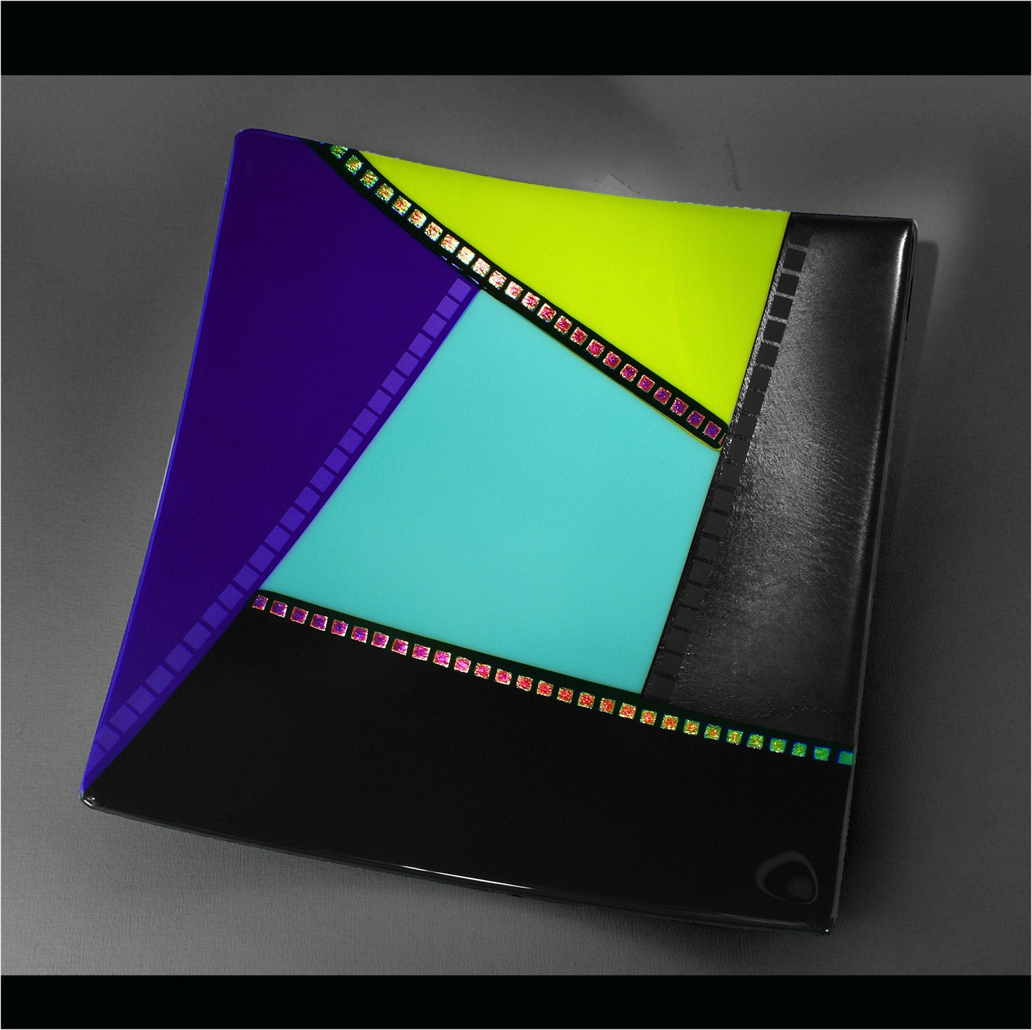 Contemporary Fused Glass Plate