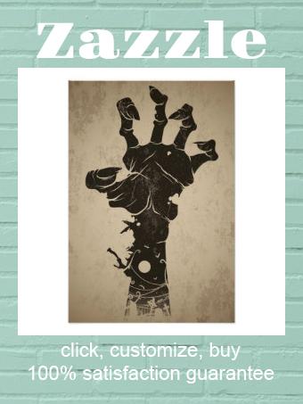 Vintage Halloween Icon Zombie Hand Poster Zazzle Com Halloween Icons Zombie Hand Vintage Halloween